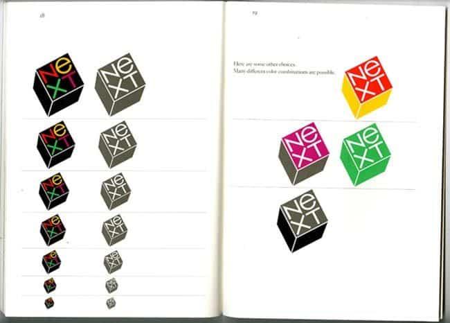 Paul Rand NeXT logo concept