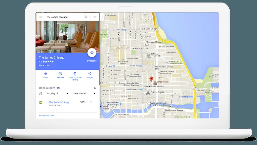 Prenotazione hotel di Google Maps