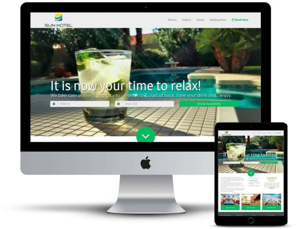 Design del sito Web HotelMinder